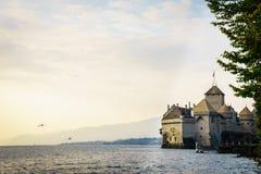 El castillo de Chillon en Montreux, Suiza Fotos de archivo libres de regalías