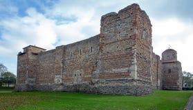 El castillo de Colchester mantiene visto de esquina del noroeste imágenes de archivo libres de regalías