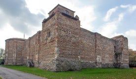 El castillo de Colchester mantiene visto de la esquina del este del norte fotografía de archivo