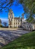 El castillo de Dunrobin es un hogar majestuoso en Sutherland, en el área de la montaña de Escocia. Fotos de archivo libres de regalías