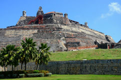 Cartagena Fortress. El Castillo de Felipe fortress in Cartagena, Columbia Stock Photos