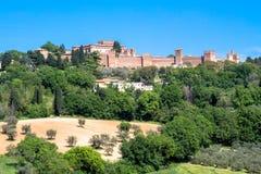 El castillo de Gradara en Italia Fotos de archivo libres de regalías