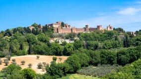 El castillo de Gradara en Italia Fotografía de archivo libre de regalías