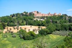 El castillo de Gradara en Italia Imagenes de archivo