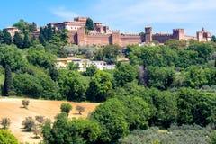 El castillo de Gradara en Italia Foto de archivo libre de regalías