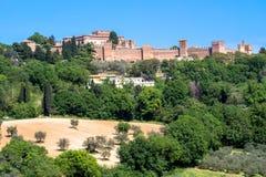 El castillo de Gradara en Italia Fotografía de archivo