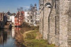 El castillo de Gravensteen en Gante Foto de archivo libre de regalías