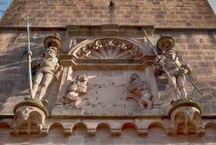 El castillo de Heidelberg es una ruina famosa en Alemania y la señal de Heidelberg Foto de archivo
