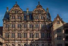 El castillo de Heidelberg es una ruina famosa en Alemania y la señal de Heidelberg imagen de archivo