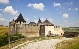 El castillo de Hotin Imagen de archivo libre de regalías
