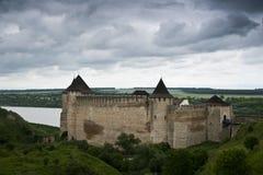 El castillo de Khotyn Fotografía de archivo