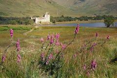 El castillo de Kilchurn está situado en la extremidad septentrional del temor del lago, buil fotografía de archivo
