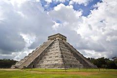 El Castillo de Kukulcan. El Castillo, the famous pyramid of Chichén Itza, Mexico Royalty Free Stock Image