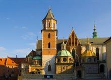 El castillo de la Kraków Imagen de archivo libre de regalías