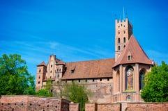 El castillo de la orden teutónica en Malbork Imagen de archivo libre de regalías