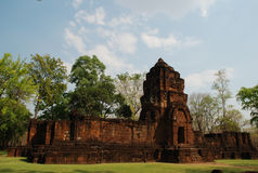 El castillo de la roca en el oeste de Tailandia Foto de archivo libre de regalías