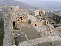 El castillo de los Chevaliers del DES de Krak Imagenes de archivo