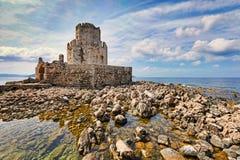 El castillo de Methoni, Grecia Imagen de archivo