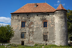 El castillo de Miklosh del santo Chynadieve Zakarpatska Oblast Imagenes de archivo