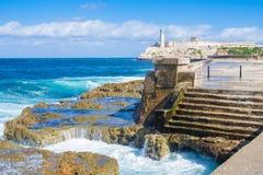 El castillo de Morro en La Habana fotografía de archivo libre de regalías