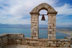 El castillo de Palamidi Imágenes de archivo libres de regalías