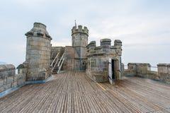 El castillo de Pendennis guarda Imagen de archivo libre de regalías