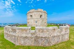 El castillo de Pendennis guarda Fotos de archivo libres de regalías