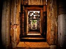 El castillo de piedra Sdok Kok Thom Fotografía de archivo