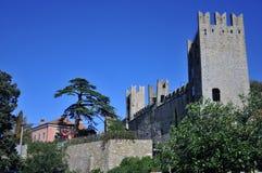 El castillo de Piran Fotografía de archivo libre de regalías