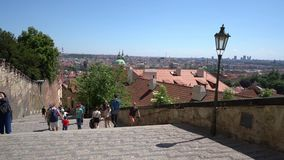El castillo de Praga almacen de video