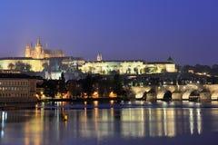 El castillo de Praga Foto de archivo