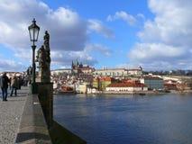 El castillo de Praga Imagenes de archivo