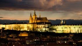 El castillo de Praga Hradcany Imagen de archivo libre de regalías