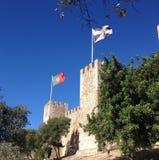 El castillo de San Jorge/Castelo de S Jorge, Lisboa Imagen de archivo libre de regalías