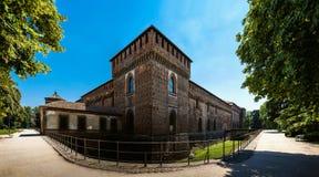 El castillo de Sforza es un castillo en Milán, Italia septentrional Fotografía de archivo