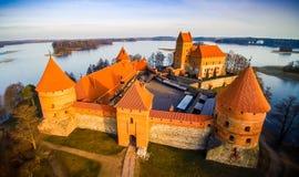 El castillo de Trakai Imagen de archivo libre de regalías
