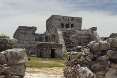 El Castillo de Tulum Facade Stock Photography