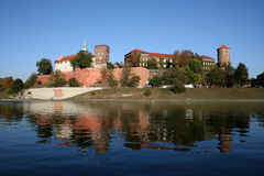 El castillo de Wawel foto de archivo libre de regalías