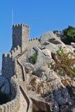 El castillo del Moorish en Portugal Imagen de archivo