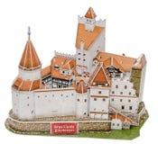 El castillo del salvado de Transilvania (Transilvania) como el nuevo rompecabezas 3D El castillo de Lord Dracula (Vlad Tepes) Fotografía de archivo