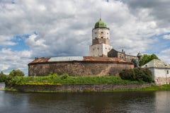 El castillo en la isla Fotos de archivo libres de regalías
