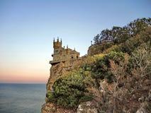 El castillo en la roca Imágenes de archivo libres de regalías