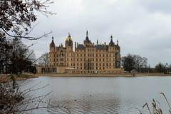 El castillo en Schwerin Imagenes de archivo