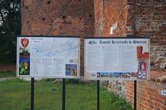 El castillo en Swiecie Imagen de archivo libre de regalías