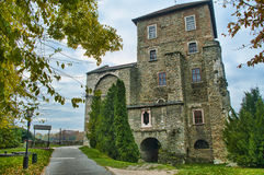 El castillo en Tata, Hungría Imágenes de archivo libres de regalías