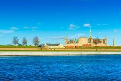 El castillo famoso Kronborg también conocido como Elsinore imágenes de archivo libres de regalías