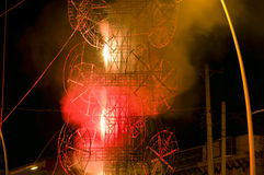 El Castillo Fireworks Tower at Chapala Mexico Royalty Free Stock Photography