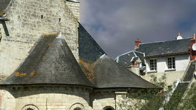 El castillo francés Azay-le-Rideau fue construido a partir de 1515 a 1527, el Loira, Francia almacen de video