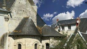 El castillo francés Azay-le-Rideau fue construido a partir de 1515 a 1527, el Loira, Francia almacen de metraje de vídeo
