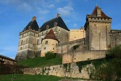 El castillo francés de Biron Imagen de archivo